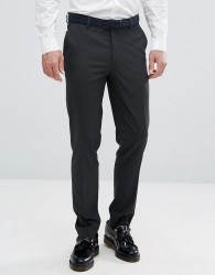 ASOS Skinny Smart Trousers in Charcoal - Grey