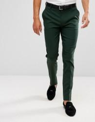ASOS Skinny Smart Trousers In Green - Green
