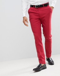 ASOS Skinny Smart Trousers In Strawberry Red - Red