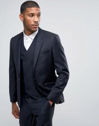 ASOS Skinny Suit Jacket in 100% Wool in Navy - Navy