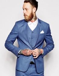 ASOS Skinny Suit Jacket In Blue - Blue