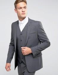 ASOS Skinny Suit Jacket In Charcoal - Grey