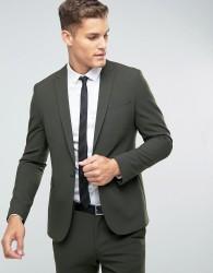 ASOS Skinny Suit Jacket In Khaki - Green
