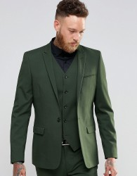 ASOS Skinny Suit Jacket In Khaki - Green