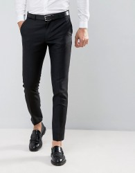 ASOS Skinny Suit Trouser in 100% Wool in Black - Black