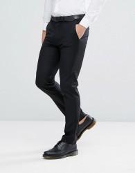 ASOS Skinny Suit Trouser In Black 100% Wool - Black