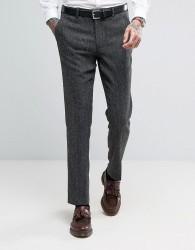 ASOS Skinny Suit Trouser in Herringbone - Grey