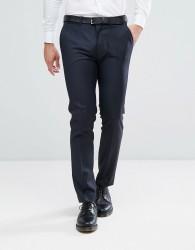 ASOS Skinny Suit Trouser In Navy 100% Wool - Navy