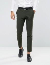 ASOS Skinny Suit Trousers In Khaki - Green