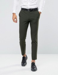 ASOS Skinny Suit Trousers In Khaki - Green