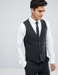 ASOS Skinny Suit Waistcoat In Charcoal - Grey