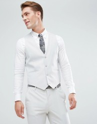 ASOS Skinny Suit Waistcoat In Ice Grey - Grey