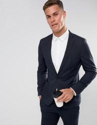 ASOS Skinny Travel Suit Jacket in Navy - Navy