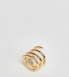 ASOS Sleek Swirl Ring - Gold