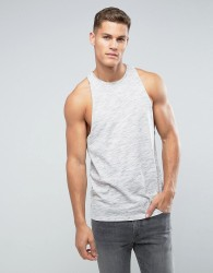 ASOS Sleeveless T-Shirt In Inject Fabric With Racer Back - Grey