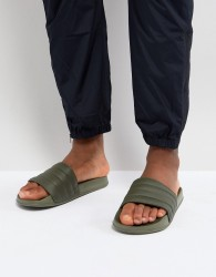 ASOS Slider In Khaki With Padded Strap - Green
