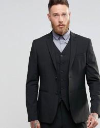ASOS Slim Suit Jacket In Black - Black