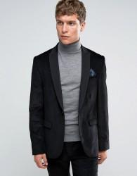 ASOS Slim Suit Jacket in Black Cord - Black