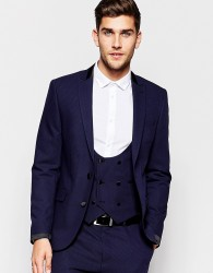 ASOS Slim Suit Jacket With Shawl Collar - Black