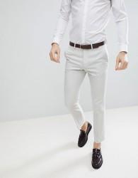ASOS Slim Suit Trousers In Ice Grey 100% Wool - Grey