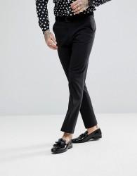 ASOS Slim Tuxedo Suit Trousers in Black - Black