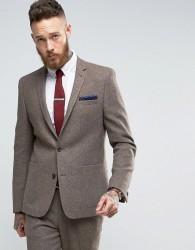 ASOS Slim Wool Blend Suit Jacket In Oatmeal - Beige