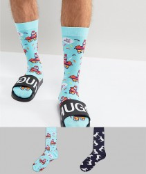 ASOS Socks With Pinata Design 2 Pack - Blue