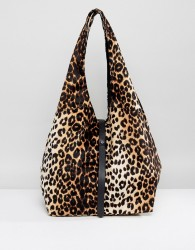 ASOS Soft Slouch Shopper Bag With Tie - Multi
