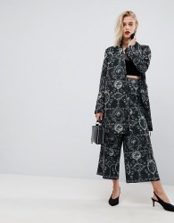 ASOS Soft Tailored Culottes in Ornate Print - Multi