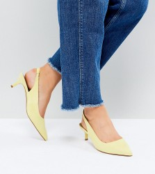 ASOS SPIRIT Wide Fit Slingback Kitten Heels - Yellow