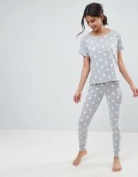 ASOS Star Print Tee & Legging Pyjama Set - Multi