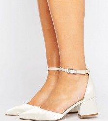 ASOS STARLING Wide Fit Bridal Pointed Heels - White