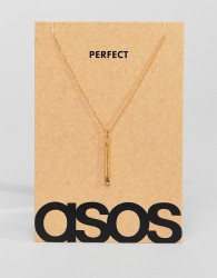 ASOS Sterling Silver Valentines Perfect Match Necklace In Gold Plate - Gold