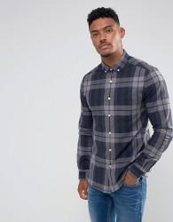 ASOS Stretch Slim Check Shirt - Grey
