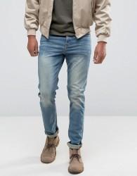 ASOS Stretch Slim Jeans In 12.05oz In Light Blue - Blue
