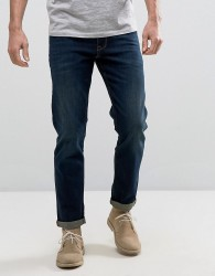 ASOS Stretch Slim Jeans In Dark Wash - Blue