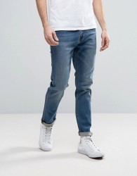 ASOS Stretch Slim Jeans In Mid Wash - Blue