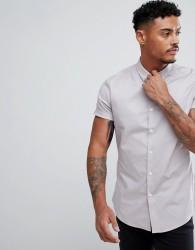 ASOS Stretch Slim Shirt In Grey - Green
