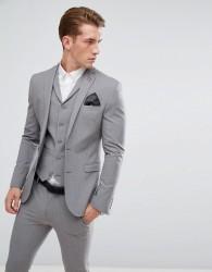 ASOS Super Skinny Fit Suit Jacket In Mid Grey - Grey