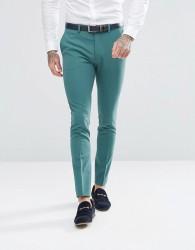 ASOS Super Skinny Fit Suit Trousers In Peacock Green - Green