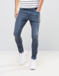 ASOS Super Skinny Jeans In Dark Smokey Blue - Blue