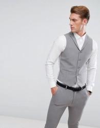 ASOS Super Skinny Suit Waistcoat In Mid Grey - Grey