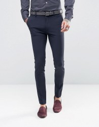 ASOS Super Skinny Tuxedo Suit Trousers In Navy - Navy