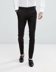 ASOS Super Skinny Tuxedo Trousers In Black - Black