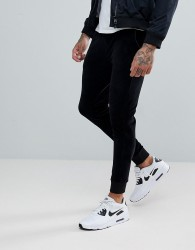 ASOS Super Skinny Velour Joggers - Black