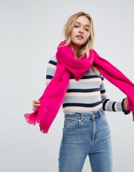 ASOS Supersoft Long Woven Scarf In Hot Pink - Pink