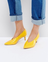 ASOS SUZIE Pointed Kitten Heels - Yellow