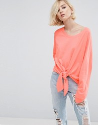 ASOS Sweatshirt with Knot Front - Pink