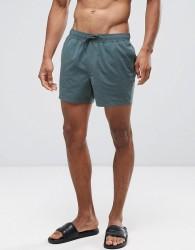 ASOS Swim Shorts In Green Short Length - Green