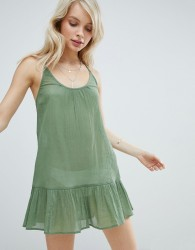 ASOS T Back Tiered Beach Sundress - Green